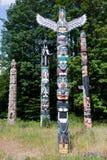 Totem nella sosta di Stanley Fotografia Stock