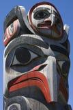 Totem pólo do Haida imagem de stock