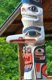 Totem pólo do Tlingit de Alaska Huna foto de stock