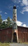 Totem palo in Bella Coola Fotografia Stock Libera da Diritti