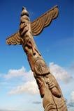 Totem palo di legno Fotografie Stock