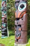 Totem palo in Stanley Park Fotografie Stock