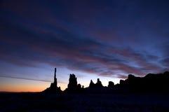 Totem palo tribale della sosta del Navajo della valle del monumento fotografia stock libera da diritti