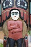 Totem palo Upset di Saxman nazionale Fotografia Stock