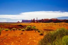 Totem palo, valle del monumento, Arizona, U.S.A. Fotografie Stock Libere da Diritti