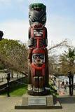 Totem palo, Victoria BC, il Canada Fotografia Stock Libera da Diritti