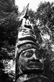 Totem pole. Native Totem Pole in Vancouver, British Columbia, Canada stock images