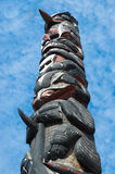 Totem Pole. Tlingit tribe totem pole at Icy Strait Point in Alaska Stock Photography