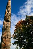 Totem Pole. In Vancouver, British Columbia Stock Images