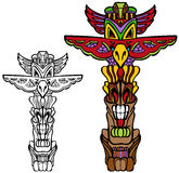 Totem Pole. An image of a totem pole Royalty Free Stock Image