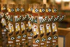 Totem pole. Indian's Totem Pole statues as souvenirs Stock Photos