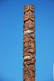 Totem Pole. Top of a Native American totem pole Stock Photography