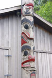 Totem pole. Near carving shed,Prince Rupert, British Columbia,Canada Royalty Free Stock Image
