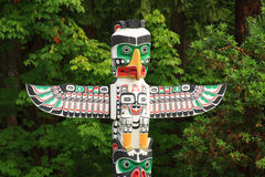 Totem Pole. A historic totem pole in Stanley Park, Vancouver Canada Royalty Free Stock Image
