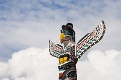 Totem Pole. In Vancouver, British Columbia, Canada royalty free stock photography