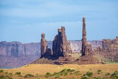 The Totem Pole Butte is a giant sandstone formation in the Monum Stock Photos