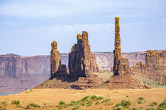 Totem Pole Butte in  Monument valley Royalty Free Stock Photo