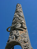 Totem Pole Carvings Stock Images