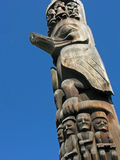 Totem Pole Carvings Stock Photography