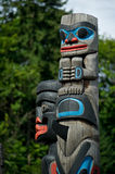 Totem Pole Detail Duncan, British Columbia, Canada. Detail of a totem pole located in Duncan, British Columbia Royalty Free Stock Image