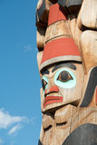 Totem Pole Detail in Jasper, Canada Royalty Free Stock Photos