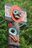 Totem Pole. A detail of a Totem Pole at Stanley park, Vancouver, Canada Royalty Free Stock Photography