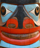 Totem Pole Face Stock Images