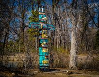 Totem Pole in historic public park. Royalty Free Stock Photo