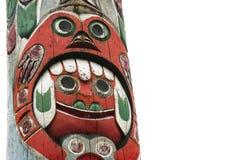 Totem Pole i British Columbia, Kanada Fotografering för Bildbyråer
