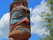 Totem Pole Icon. A face on a totem pole Royalty Free Stock Image