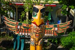 Totem Pole In Duncan`s Royalty Free Stock Images