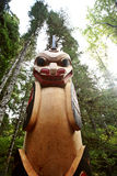 Totem pole at Kitsumkalum Provincial Park. Canada Royalty Free Stock Photo