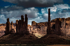 Totem Pole Monument Valley Stock Photo