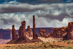 Totem Pole Monument Valley Royalty Free Stock Images