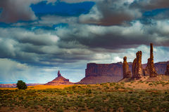 Totem Pole Monument Valley Stock Image