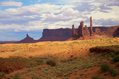 Totem pole in  Monument Valley Royalty Free Stock Image