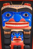Totem pole at North America Royalty Free Stock Photography