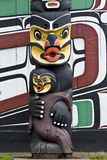 Totem Pole and Painted House Victoria Canada Royalty Free Stock Photo