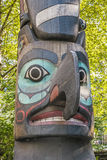 Totem Pole in Pioneer Square park Stock Photo