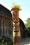 Totem pole planter Stock Photos