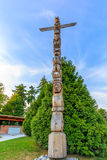 Totem Pole in Stanley Park Stock Photos