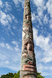 Totem pole to the sky Stock Photography