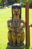 Totem pole,  totem pole of canadian indians Stock Photos