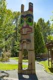Totem pole,  totem pole of canadian indians Royalty Free Stock Image