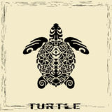 Totem Pole - Turtle Royalty Free Stock Images