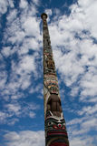 Totem pole. Valley gardens, England Stock Image