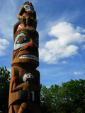 Totem Pole w/ Clipping Path Stock Photography