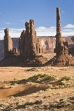 Totem Pole and Yei Bei Chei formations, Monument Valley, Arizona royalty free stock photos