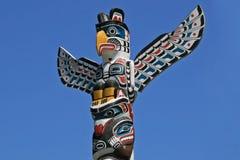 Totem Poles в парке Стэнли, Ванкувер, Канаде Стоковая Фотография