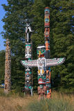 Totem Poles at Brockton Point in Stanley Park, Vancouver, Canada Royalty Free Stock Photos